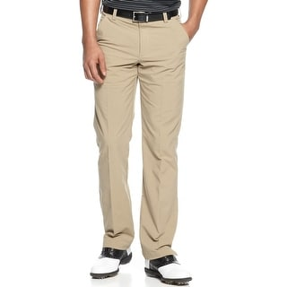 Under Armour Mens Regular Fit Flat Front Golf Pants Tan 32W x 32L - 32