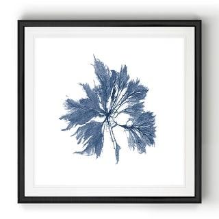 Link to Navy Seaweed I  -Black Framed Print Similar Items in Art Prints