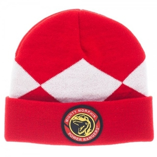 Power Rangers Costume Beanie Hat Red Ranger