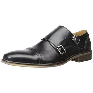 Kenneth Cole Reaction Mens Sub-Let Leather Cap Toe Monk Shoes - 7 medium (d)