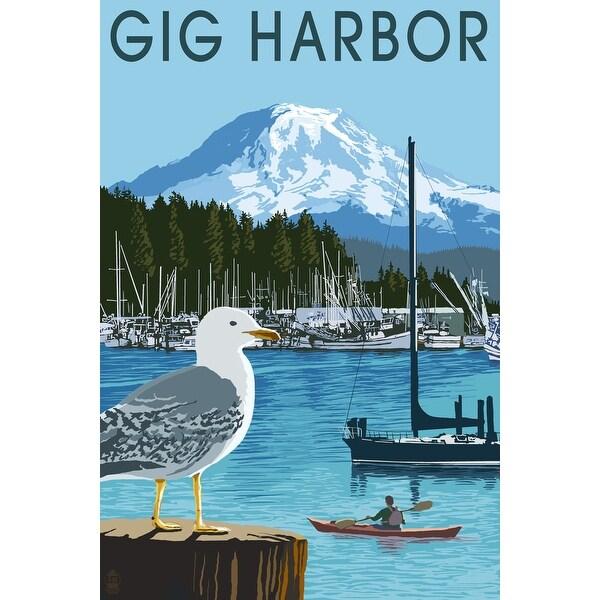 Gig Harbor, WA - Day Scene - LP Artwork (Poker Playing Cards Deck)