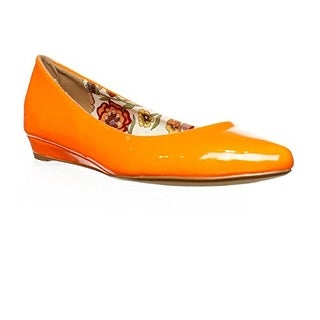 2 Lips Too Too Silver Ballet Flats - Orange