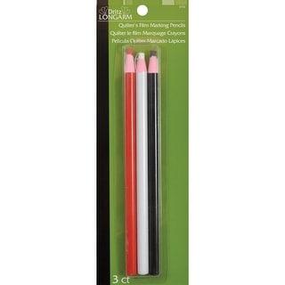 Dritz Longarm Quilter's Film Marking Pencils-Red, White & Black 3/Pkg