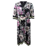 INC International Concepts Women's Plus Size Handkerchief-Hem Midi Dress - Multi