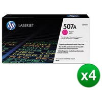HP 507A Magenta Original Toner Cartridge For US Government (CE403AG)(4-Pack)