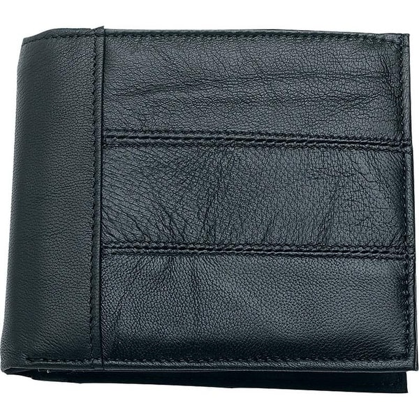 Embassy™ Men's Solid Genuine Leather Bi-Fold Wallet