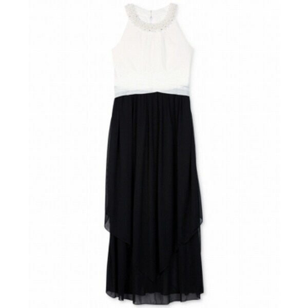 46650251d086 Shop Amy Byer NEW Black Girls Size 10 Pearl-Trim Tiered Colorblock ...