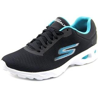Skechers Go Walk Zip Women  Round Toe Synthetic Black Walking Shoe