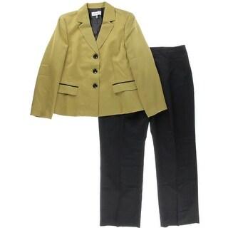 Le Suit Womens Prague Lined Chevron Pant Suit
