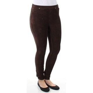 Womens Brown Active Wear Skinny Leggings Size S