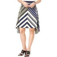 Tommy Hilfiger Womens A-Line Skirt Chevron Handkerchief-Hem