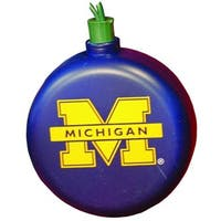 Set of 30 Blue NCAA Michigan Wolverines Sports Christmas Lights - Green Wire