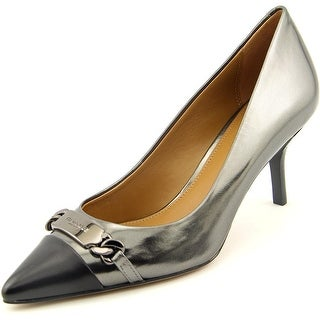 Coach Bowery Women Pointed Toe Synthetic Gray Heels