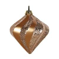 Vickerman M133258 6 in. Rose Gold Candy Glittr Swirl Diamond Ornament