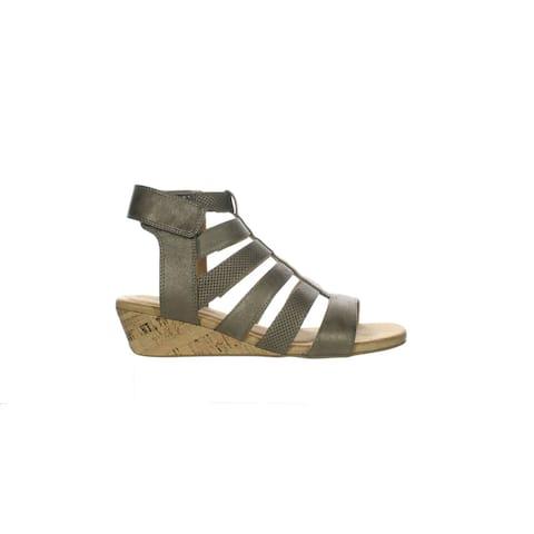 Rockport Womens Calia Gladiator Bronze Ankle Strap Heels Size 8 (Wide)
