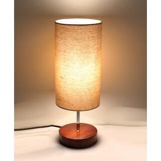 Shop Homcom 23 Modern Round Minimalist Table Lamp Linen Shade With