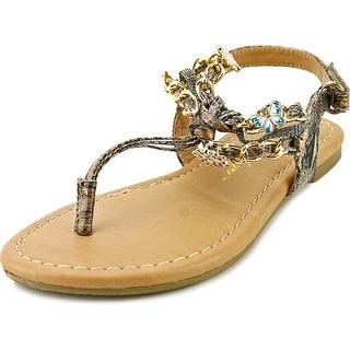 Sarah Jayne Shore Open-Toe Synthetic Slingback Sandal