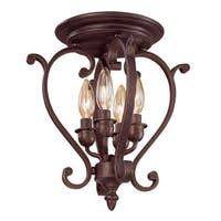 Millennium Lighting 1224 Oxford 4 Light Semi-Flush Ceiling Fixture