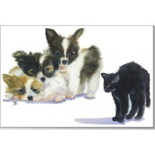 Rainbow Card Company Puppy Post Cards -25 Pack Scary #44;