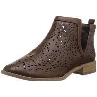 Brinley Co Womens payton Almond Toe Ankle Fashion Boots