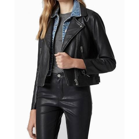 Blank NYC Black Womens Size Medium M Layered Motorcycle Jacket