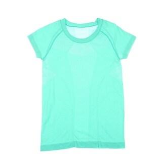 Zella Womens Slim Fit Mesh Inset T-Shirt - S