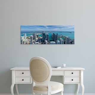 Easy Art Prints Panoramic Images's 'Elevated view of city at the waterfront, Miami, Miami