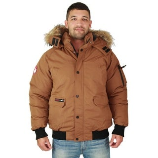 Canada Weather Gear Men's Faux Goose Down Bomber Jacket Coat
