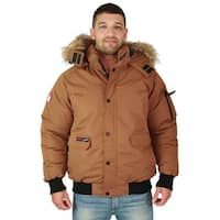 Canada Weather Gear Men's Faux Goose Down Bomber Jacket Coat
