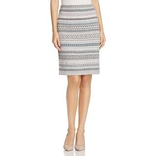 Foxcroft Womens A-Line Skirt Metallic Pattern