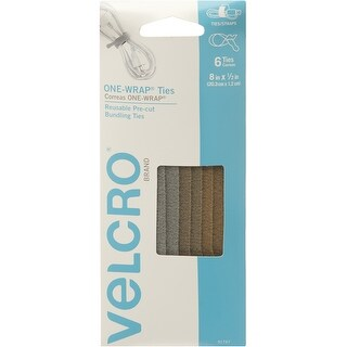 "Velcro(R) Brand One-Wrap(R) Thin Ties .5""X8"" 6/Pkg-Military Multi-Color"