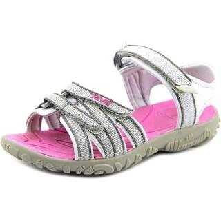 Teva Tirra Youth Open-Toe Canvas Silver Sport Sandal