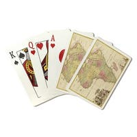 Africa - (1725) - Panoramic Map (Poker Playing Cards Deck)