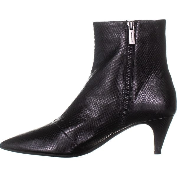 d19abad6fc38 Michael Michael Kors Womens Blaine Flex Kitten Bootie Leather Pointed Toe  Ank..