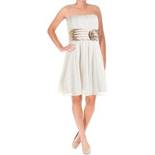 Teeze Me Womens Juniors Mesh Contrast Trim Party Dress