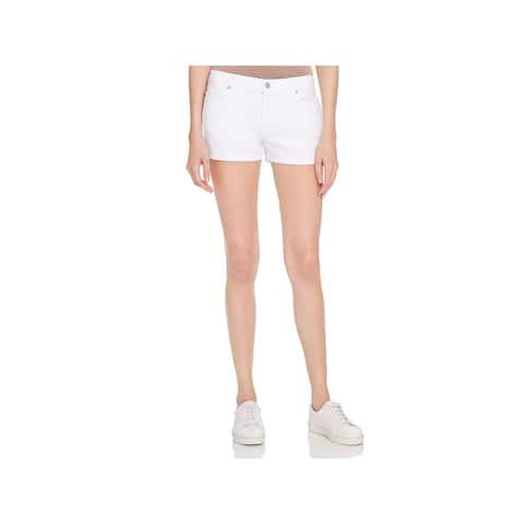 7 For All Mankind Womens Denim Shorts Cuffed Classic Rise