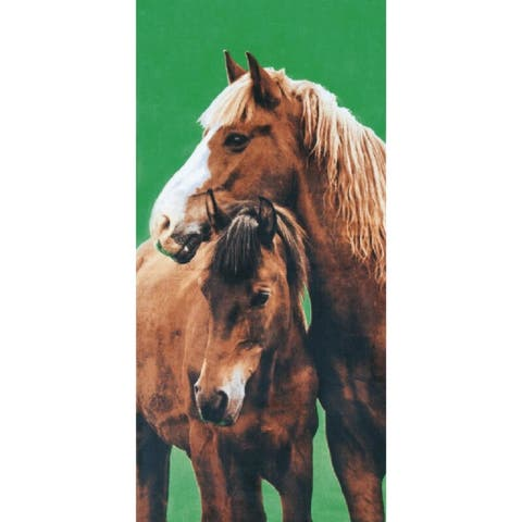 Country Horses 30x60 Brazilian Velour Beach Towel