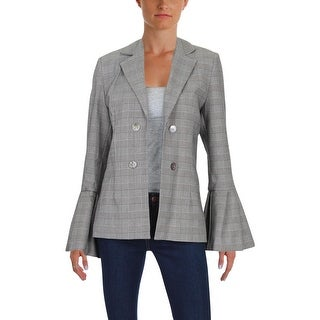 Style Mafia Womens Blazer Plaid Professional - l