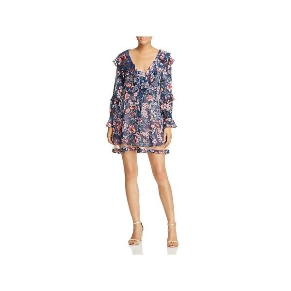 1726f1a3b4 Shop For Love & Lemons Womens Babydoll Dress Ruffled Floral Print ...