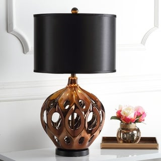 "Link to Safavieh Lighting 29-inch Deco Copper Finish Table Lamp - 16""x16""x29"" Similar Items in Table Lamps"