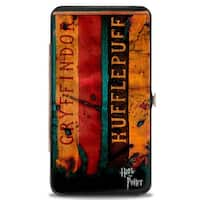 Harry Potter 4 Hogwarts House Banners Hinged Wallet  One Size - One Size Fits most