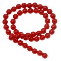 Czech Glass Druk Round Beads 6mm Opaque Red (50)