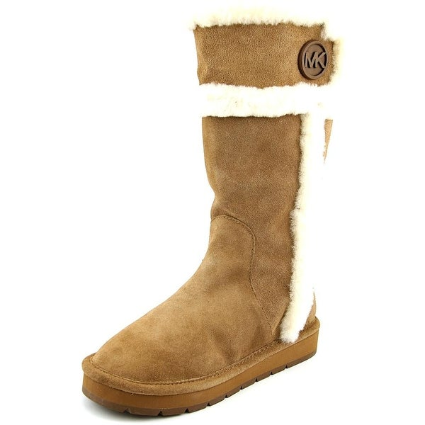Michael Michael Kors Winter Tall Boot Round Toe Suede Winter Boot