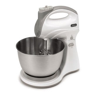 Sunbeam Mixmaster FPSBHS0301 Hand & Stand Mixer, 250 Watt, 5 Speed, White