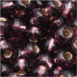 Czech Seed Beads 6/0 Amethyst Purple Silver Lined (1 Ounce)