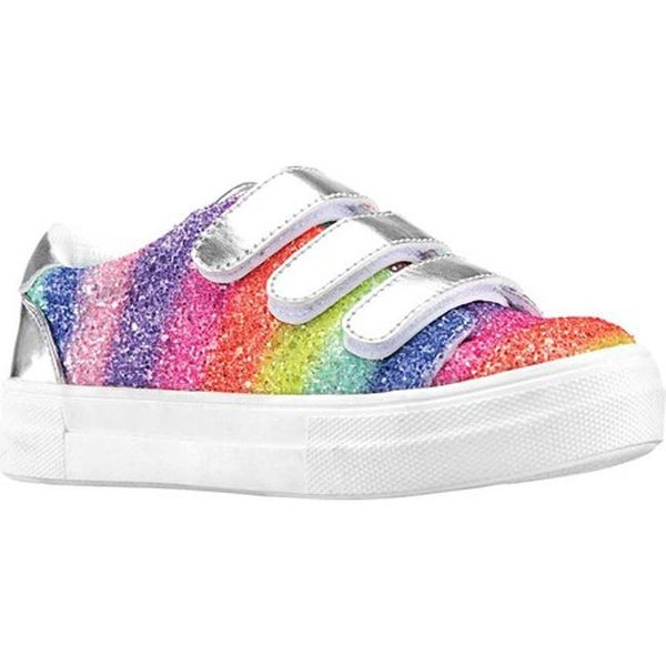 31127a1f5d Shop Nina Girls' Gizella Sneaker Rainbow Chunky Glitter Synthetic ...
