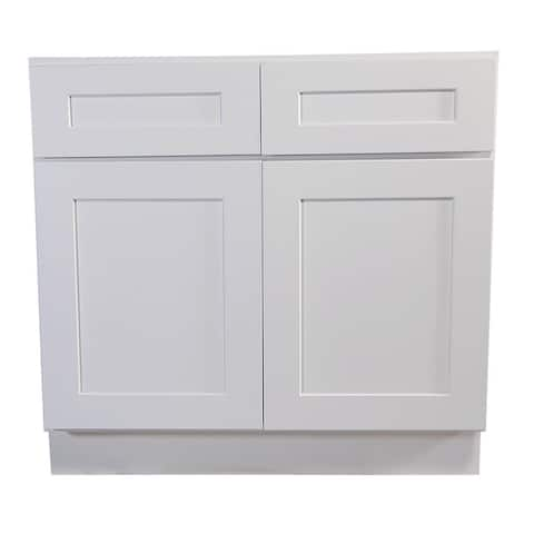 """Design House 561423 Brookings 48"""" Wide x 34-1/2"""" High Double Door Base - White"""