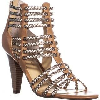 Ivanka Trump Rannon Strappy Cone Heel Sandals, Brown Multi - 7 us