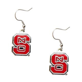 NC State North Carolina State Wolfpack Dangle Logo Earring Set NCAA Charm Gift