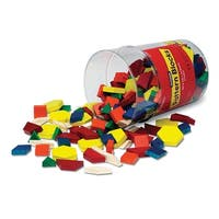Pattern Blocks Wooden 250/Pk 1Cm